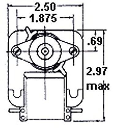 Fasco C Frame Wall Heater Fan Motor 64 Amps 1100rpm 115 Volts