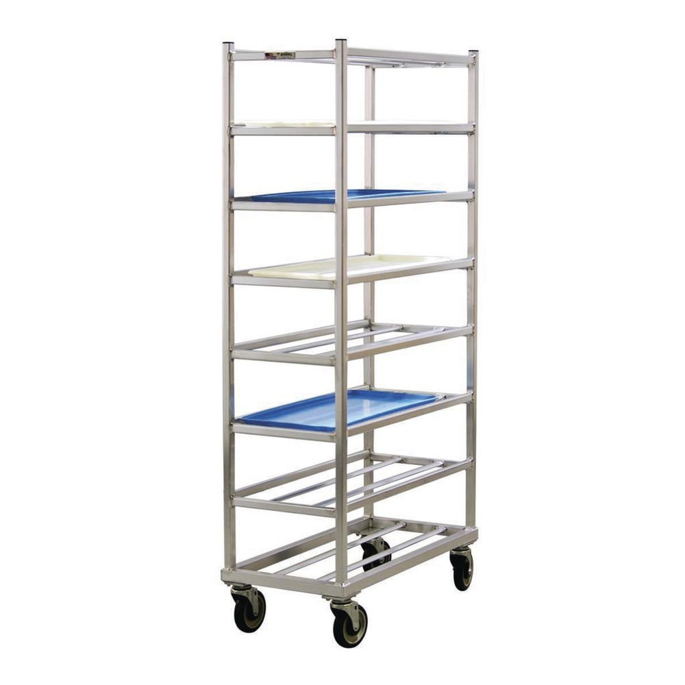 New Age Aluminum 8 Shelf End and Side Load Universal Rack - 34 1/2''L x 16''W x 66 3/8''H