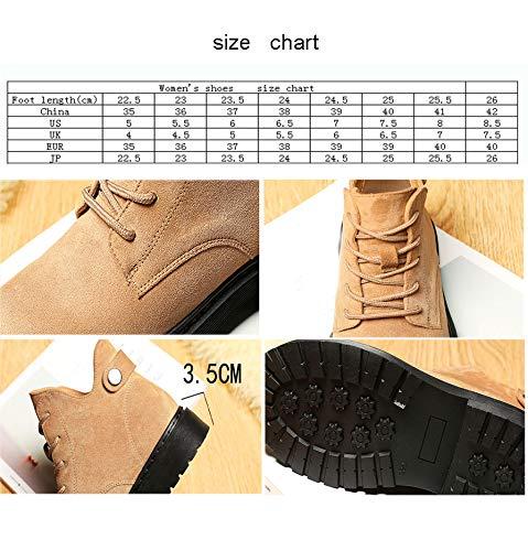 Otoño Locomotoras Para Exterior Gruesos Negras Mujer Martin Negro Zapato Tacones Planos Botines Botas Hpll Shorts Yan47A1qY