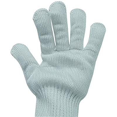 Sunshay 1 Pair Stainless Steel Wire Metal Mesh Butcher Work Safety Gloves