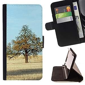 For Samsung Galaxy Core Prime / SM-G360,S-type Naturaleza Hermosa Forrest Verde 71- Dibujo PU billetera de cuero Funda Case Caso de la piel de la bolsa protectora