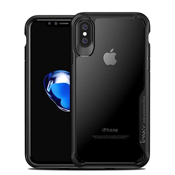pretty nice 7ed9d 10003 Amazon.com: iPhone X Case, Ipaky Hybrid HD Transparent PC Clear Slim ...