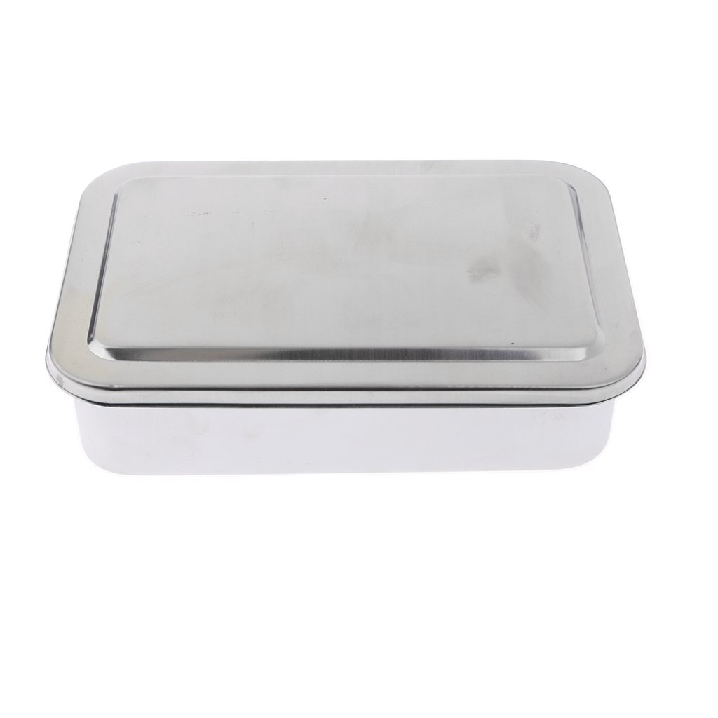 MagiDeal 6'' Stainless Steel Surgery Instruments Tray Tools Storage Box
