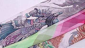 BFQCBFSG Hombre Mujer Simulación 3D Tatuaje Manga Seda Hielo Manga ...