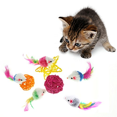 Bilipala Furry Pet Cat Toys Mice, Cat Toy Mouse, Pet Toys ...
