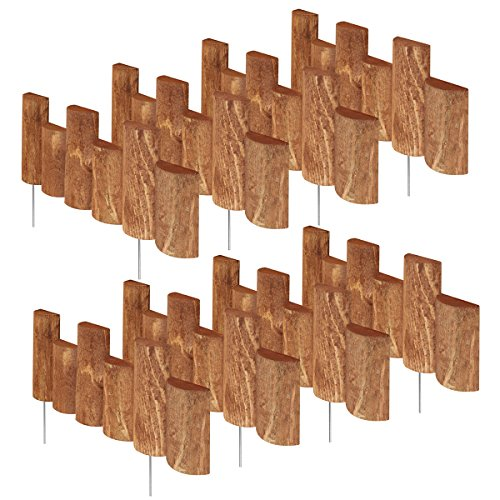 Greenes Fence 18 in. Half Log Edging (8 Pack) by Greenes Fence