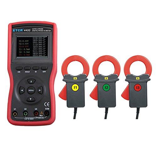 Digital meter- Three-Phase Digital Phase Position Voltage/Ampere Meter Clamp Meter ETCR-4400, Amp Ohm Volt Meter: Amazon.co.uk: DIY & Tools