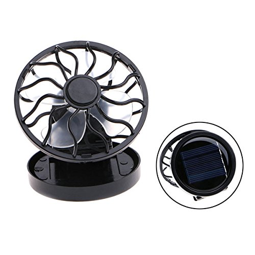 Solar Panel Powered Mini Portable Clip-On Cooling Fan For Travel Camping Fishing 2 by FSHI