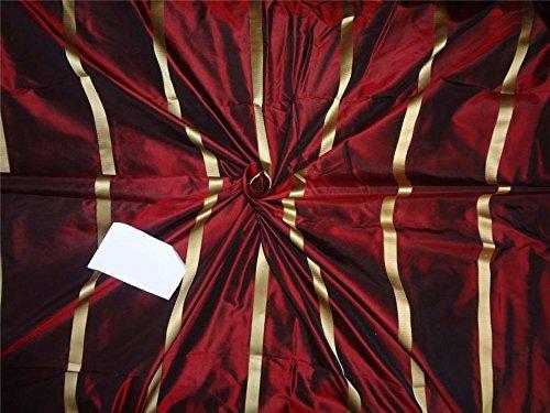 (wine / black silk taffeta w/satin stripes TAFS145)