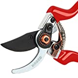 MAGZO Garden Pruning Shears, Hand Garden Pruners Professional Cutting Grafting Tool Garden Scissors for Trim Garden Fruit Tree Flower Clippers-8.5 inch
