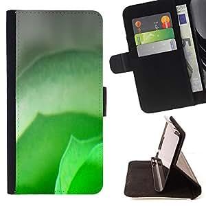 BullDog Case - FOR/Samsung Galaxy Core Prime / - / green leaf spring nature tropical fresh /- Monedero de cuero de la PU Llevar cubierta de la caja con el ID Credit Card Slots Flip funda de cuer