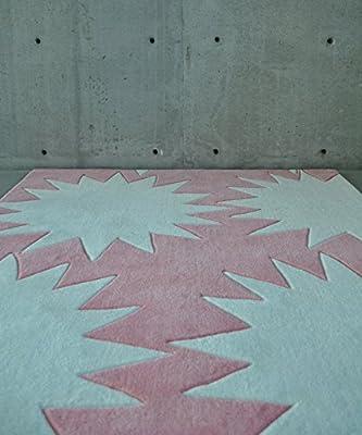 KROMA KIDS Modern STARBURST Area Rug (4' x 6' ft) 4x6 HAND-TUFTED Contemporary Design Stars
