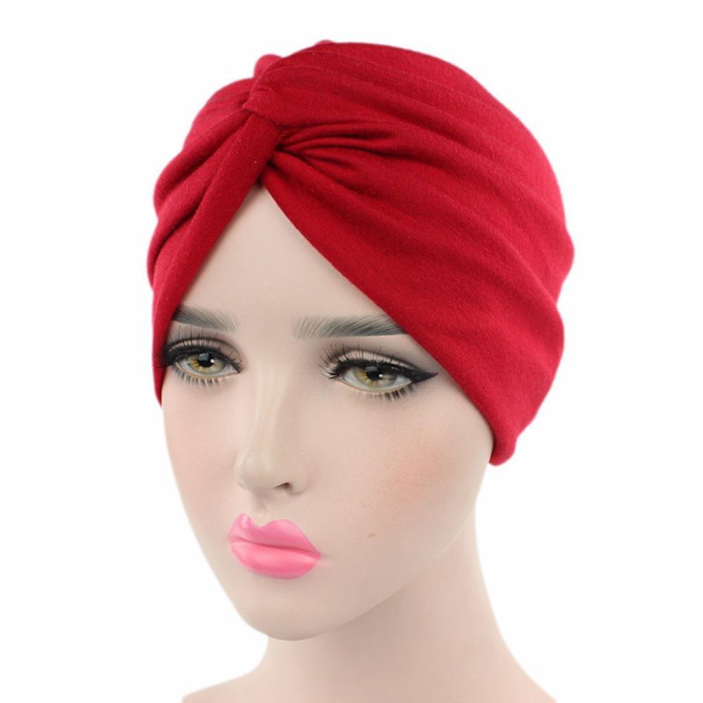 damen kopfbedeckung Bovake Frauen Krebs Chemo Hut Beanie Schal Turban Kopf Wrap Cap (Black)