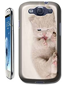 Little baby cat lovely cat lay cell phone cases for Samsung Galaxy S3