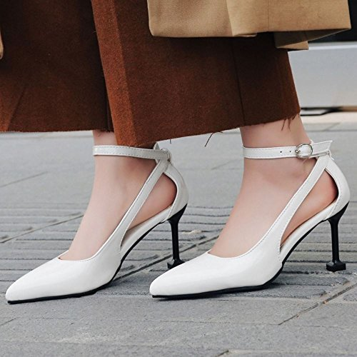 De Bout Pointu Zanpa white Talon Chaussures 8cm 1 Femmes SMpUVqz