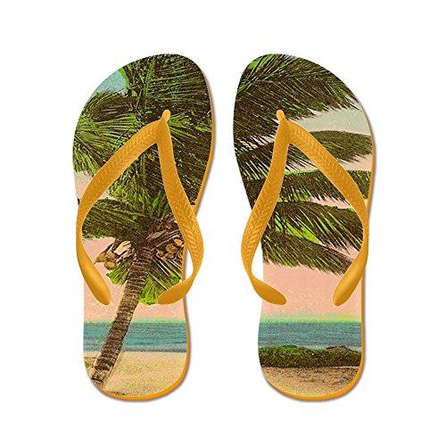 Cartolina Vintage Sanibel Palm Tree - Infradito, Divertenti Sandali Infradito, Sandali Da Spiaggia Arancione