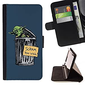 DEVIL CASE - FOR Sony Xperia Z2 D6502 - Scram You Will Funny Y - Style PU Leather Case Wallet Flip Stand Flap Closure Cover
