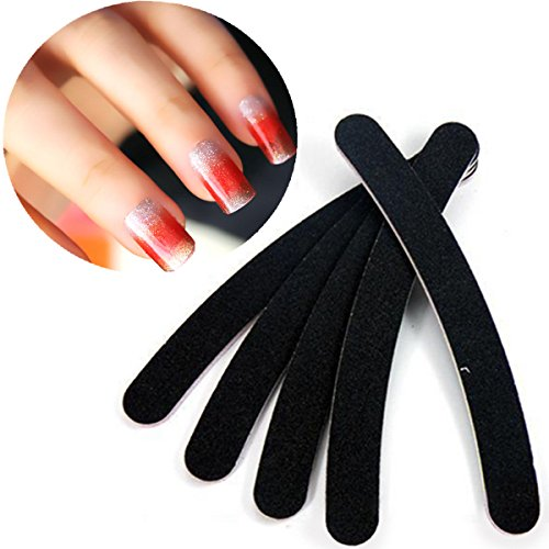 Price comparison product image 30X Black Nail Buffer Buffing File Crescent Sandpaper