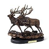Big Sky Carvers Twin Trophies Running Elk Sculpture