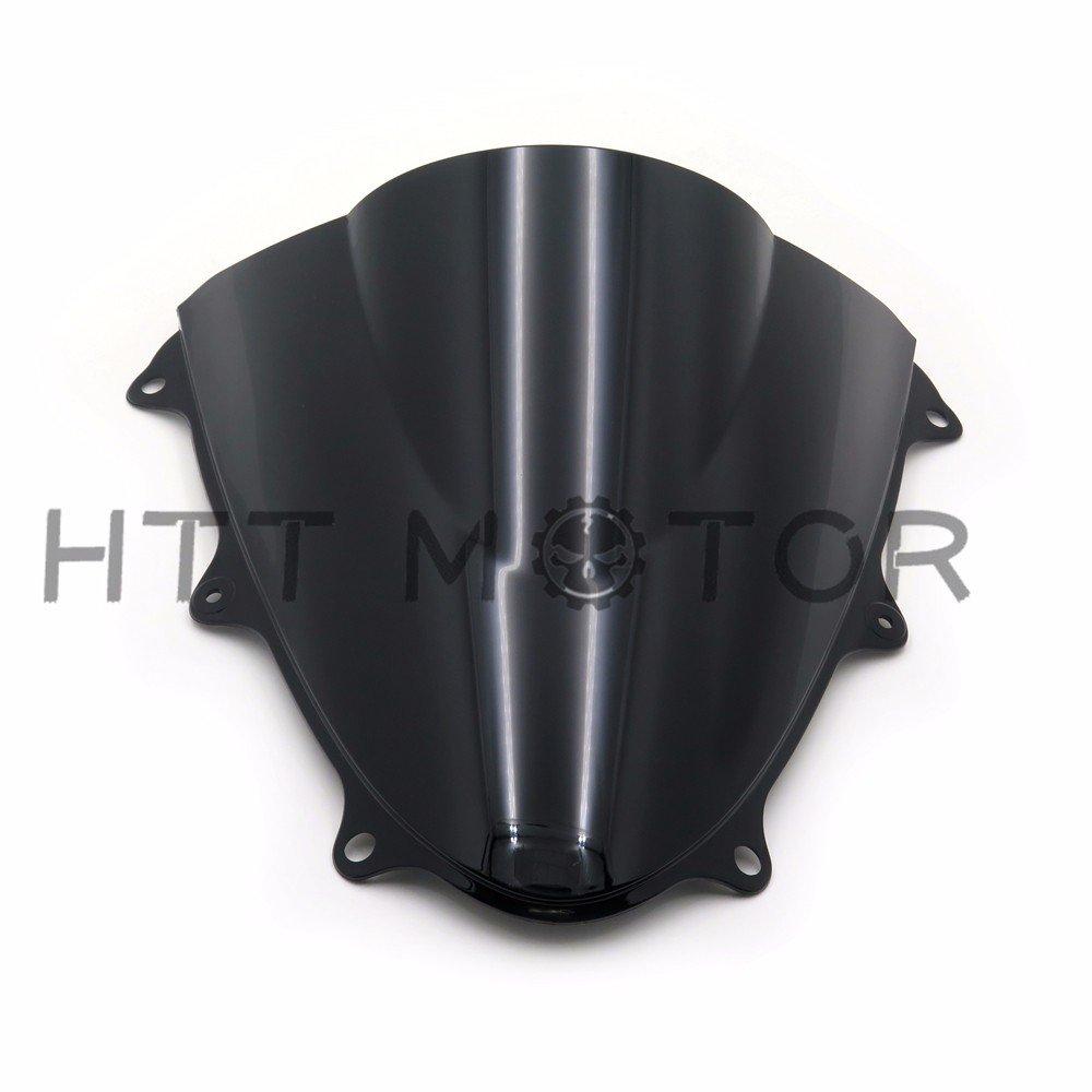 HTTMT- Moto Double Bubble Windscreen Windshield For SUZUKI GSXR600 GSXR750 GSX-R 11-14