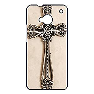 Mental Logo Hipster Cross Phone Case Skin for Htc One M7