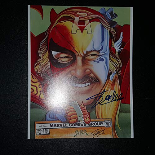 STAN LEE - Autographed Signed 8x10 inch Photograph Poster MARVEL CREATOR COA