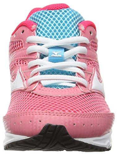 Mizuno Unisex-Kinder Spark Jr Laufschuhe Pink (Strawberry Pink/White/Capri)