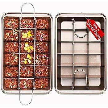 Amazon Com Perfect Brownie Pan Set Square Cake Pans