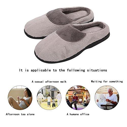 Ciabatte Da Uomo Kqpoinw Pantofole Invernali Calde Pantofole Morbide Memory Foam Pantofole In Gomma Antiscivolo Suola Interna Pantofole Per Uomo Grigio