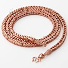 5MM Thick Heavy Foxtail Box Chain 18K Rose Gold Filled Necklace Chain Mens Womens Necklace Chain NEW ARRIVAL GN208