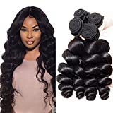 8A Brazilian Virgin Hair Loose Wave Bundles 100% Human Hair Bundles Amazing Hair Brazilian Hair Bundles Mixed Length Brazilian Loose Wave Bundles Natural Color Can be Dyed and Bleached