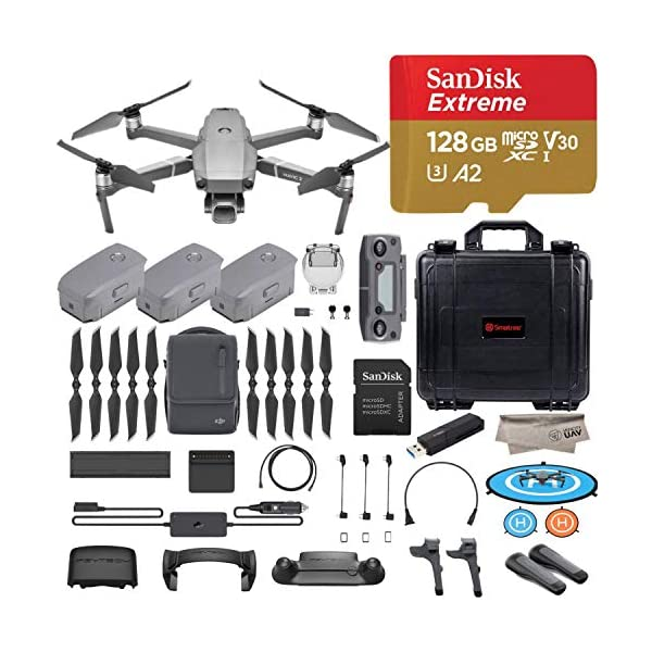 51ZymYJXwnL. SS600  - DJI Mavic 2 Pro Drone Quadcopter with Fly More Combo, Hasselblad Camera, 3 Batteries, PGY ND Filters & Pad Holder, 128GB…