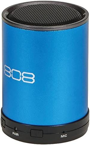 808 Canz Plus Bluetooth Wireless Speaker – Portable Bluetooth Speaker System with Enhanced Bass and Dynamic Sound Wireless Bluetooth Speaker – Blue