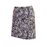 Monterey Club Ladies' Stretchable Tiger Print Satin Skort #2878(True Violet/Black,Size:8)