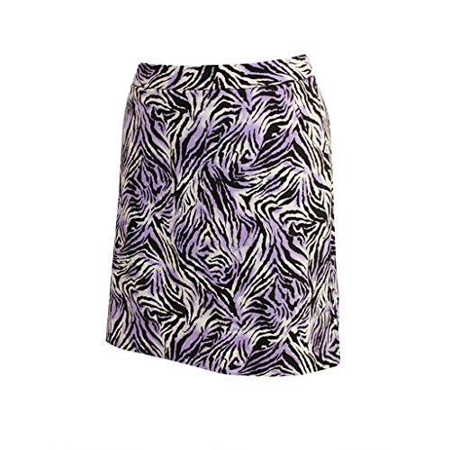 Monterey Club Ladies Tiger Print Satin Skort #2878 (True Violet/Black, Size:6)