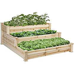 Best Choice Products Raised Vegetable Garden Bed 3 Tier Elevated Planter Kit Gardening Vegetable