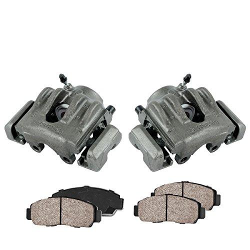 [ 2 ] FRONT Premium Grade Semi-Loaded OE Caliper Set + Ceramic Brake Pads + Sensors ()