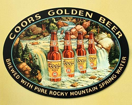 (Coors Golden Beer-Original Vintage Sign Print-