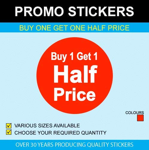 Buy One Get One Half Price Stickers Available in 6 Sizes 13mm 500