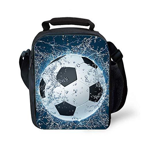 [해외]점심 토트 2019 업그레이드 단열 풋볼 런치 백 - 어린이용 남아용 여아용 방수 재사용 가능 런치 박스 휴대용 식사 백 아이스 팩 / Lunch Tote, 2019 Upgrade Insulated Football Lunch Bag- Waterproof Reusable Lunch Box Portable Meal Bag Ice P...