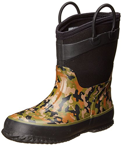 Western Chief Kids Cold Rated Neoprene Boot, Camo Green, 10 M US Toddler