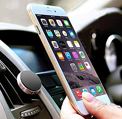 LUCKLYSTAR Soporte Móvil Coche, Soporte Móvil Coche Magnético Universal Rejillas del Aire Soporte Smartphone Coche Soporte Imanes para iPhone XS/X/ 8/7/6, Samsung Note9/8, Huawei, Xiaomi, y ect: Amazon.es: Hogar