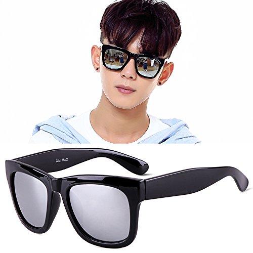 Gafas Cuadrados Polarizador Hombre De Negro Negros Silverlight KLXEB Gafas Sol Fq6xTwIIY