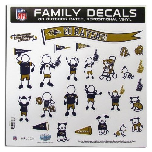 NFL Baltimore Ravens Large Family Decal Set (Best Shopping Mall In Baltimore)