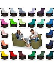 HomeIdeal - 2-kleurige gamer-zitzak voor volwassenen en kinderen - gaming of ontspannen - binnen en buiten omdat hij waterdicht is - met EPS-parels