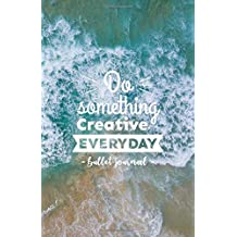 Bullet Journal, Do Something Creative Everyday: Blue Ocean Waves Notebook, Dotted Grid, (5.5 x 8.5)
