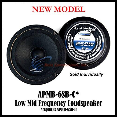 """Audiopipe 6"""" 250W Low Mid Frequency Loud speakers APMB-6SB-B FULL RANGE"""