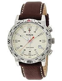 TIMEX 【Amazon.co.jp Limited】Men's intelligent quartz compass cream dial brown leather strap T2P287