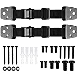 Jarlink Anti-Tip TV & Furniture Straps, 2 Pack Adjustable Baby Safety Straps with 4 Corner Cushion Guards, Metal Parts, Heavy Duty Child Proof Anchors, Hollow-wall Anchors for Flat Screen TV
