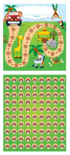 Carson Dellosa Jungle Safari Mini Incentive Charts (148004)